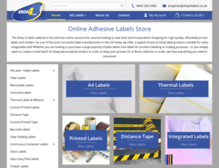 shop4labels.co.uk screenshot