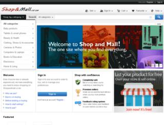 shopandmall.co.zw screenshot