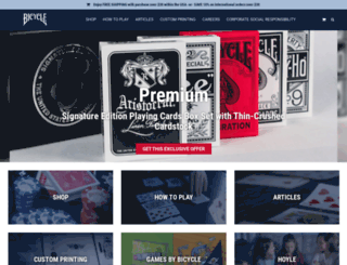 shopbicyclecards.com screenshot