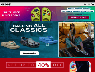shopcrocs.in screenshot