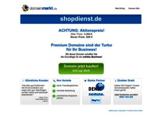 shopdienst.de screenshot