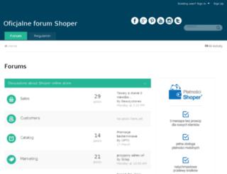 shoper.sugester.pl screenshot
