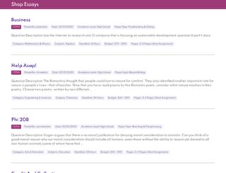 shopessays.com screenshot