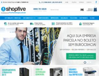 shopfive.comprasegura.net.br screenshot