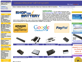shopforbattery.com screenshot