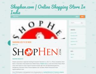 shophen.wordpress.com screenshot