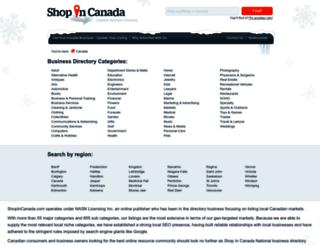shopincanada.com screenshot