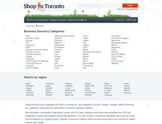 shopintoronto.com screenshot