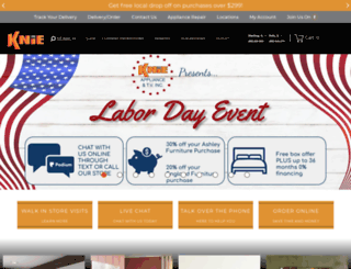 shopknies.com screenshot