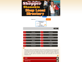 shoplocalshamokin.com screenshot