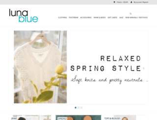 shoplunablue.com screenshot