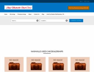 shopnashvilleusedcars.com screenshot