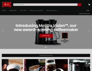shoponline.melitta.com screenshot