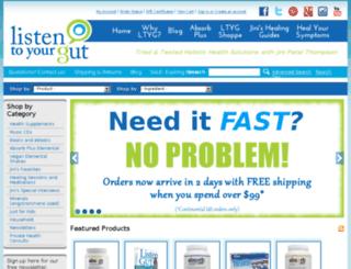 shoppe.listentoyourgut.com screenshot