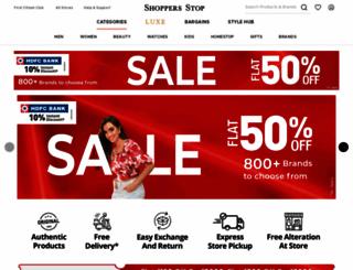 shoppersstop.com screenshot