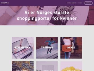 shoppic.no screenshot
