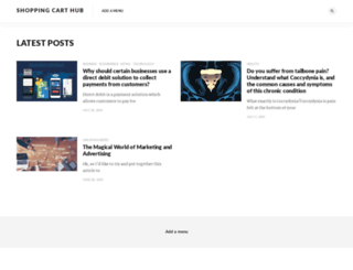 shopping-cart-hub.com screenshot