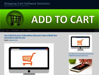 shopping-cart-software-solution.com screenshot