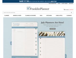 shopping.franklinplanner.com screenshot