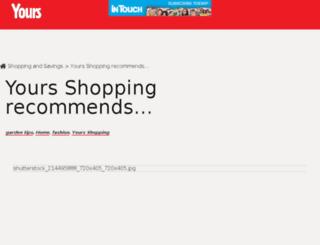 shopping.yours.co.uk screenshot