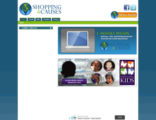 shopping4causes.com screenshot