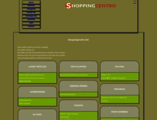 shoppingcentro.be screenshot