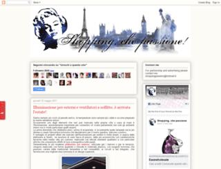 shoppingchepassione.blogspot.tw screenshot