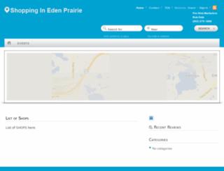 shoppingedenprairie.com screenshot