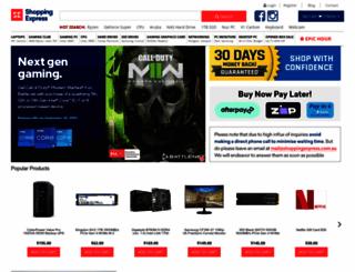 shoppingexpress.com.au screenshot