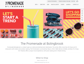 shoppingpromenade.com screenshot