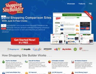 shoppingsitebuilder.com screenshot