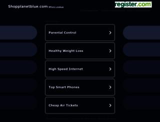 shopplanetblue.com screenshot