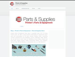 shopprintersparts.zohosites.com screenshot