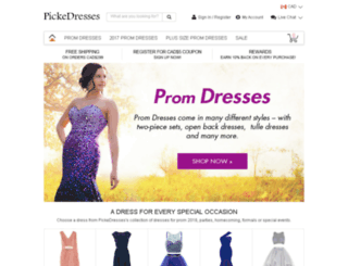 shoppromhere.com screenshot