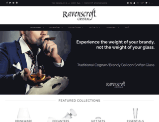 shopravenscroftcrystal.com screenshot