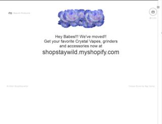 shopstaywild.bigcartel.com screenshot