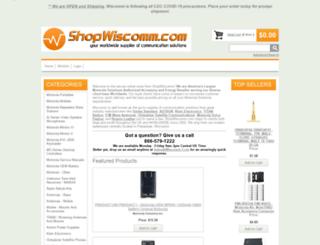 shopwiscomm.com screenshot