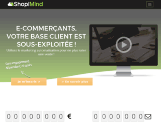 shopymind.com screenshot