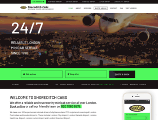 shoreditchcabs.co.uk screenshot