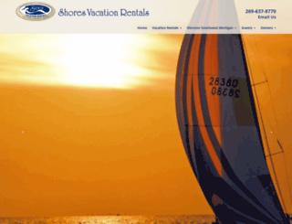 shoresvacationrentals.com screenshot