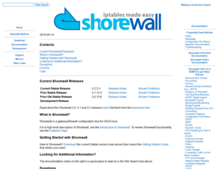 shorewall.net screenshot
