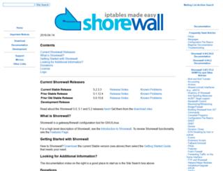 shorewall.net screenshot