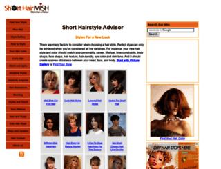 short-hair-style.com screenshot