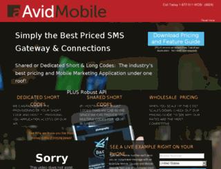 shortcode.avidmobile.com screenshot