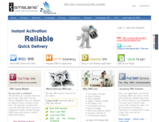shortcode.smslane.com screenshot