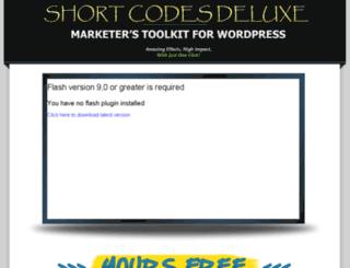 shortcodesdeluxe.com screenshot