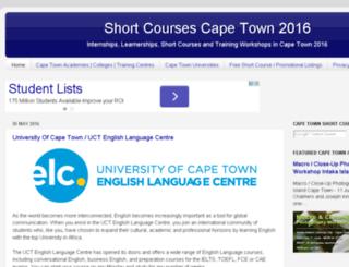 shortcoursescapetown.net screenshot