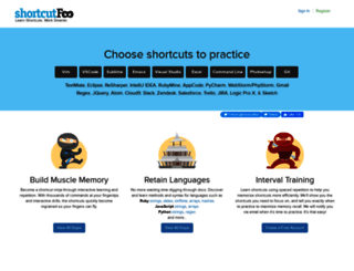 shortcutfoo.com screenshot