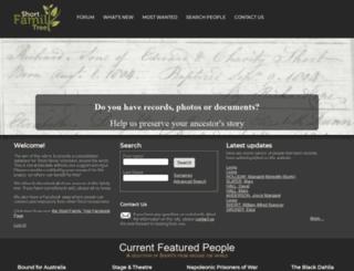 shortfamilytree.com screenshot