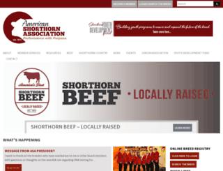 shorthorn.org screenshot
